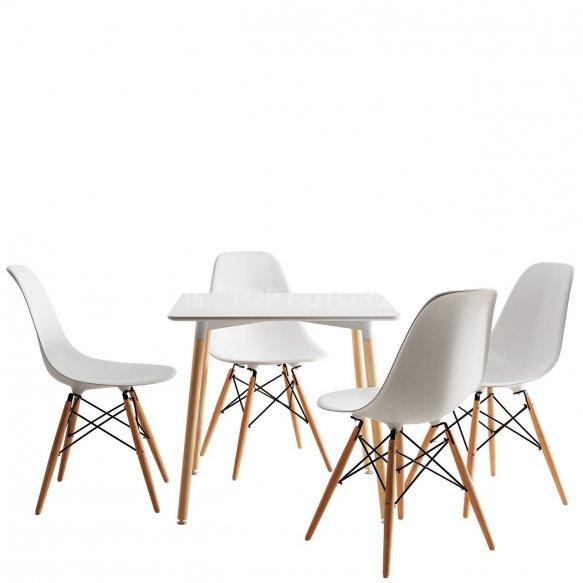 Lorin Square asztal + 4 db. Noire szék