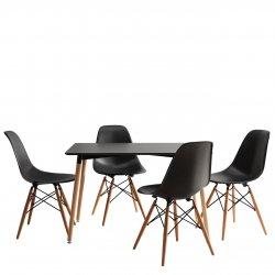 Lorin asztal + 4 db. Noire szék
